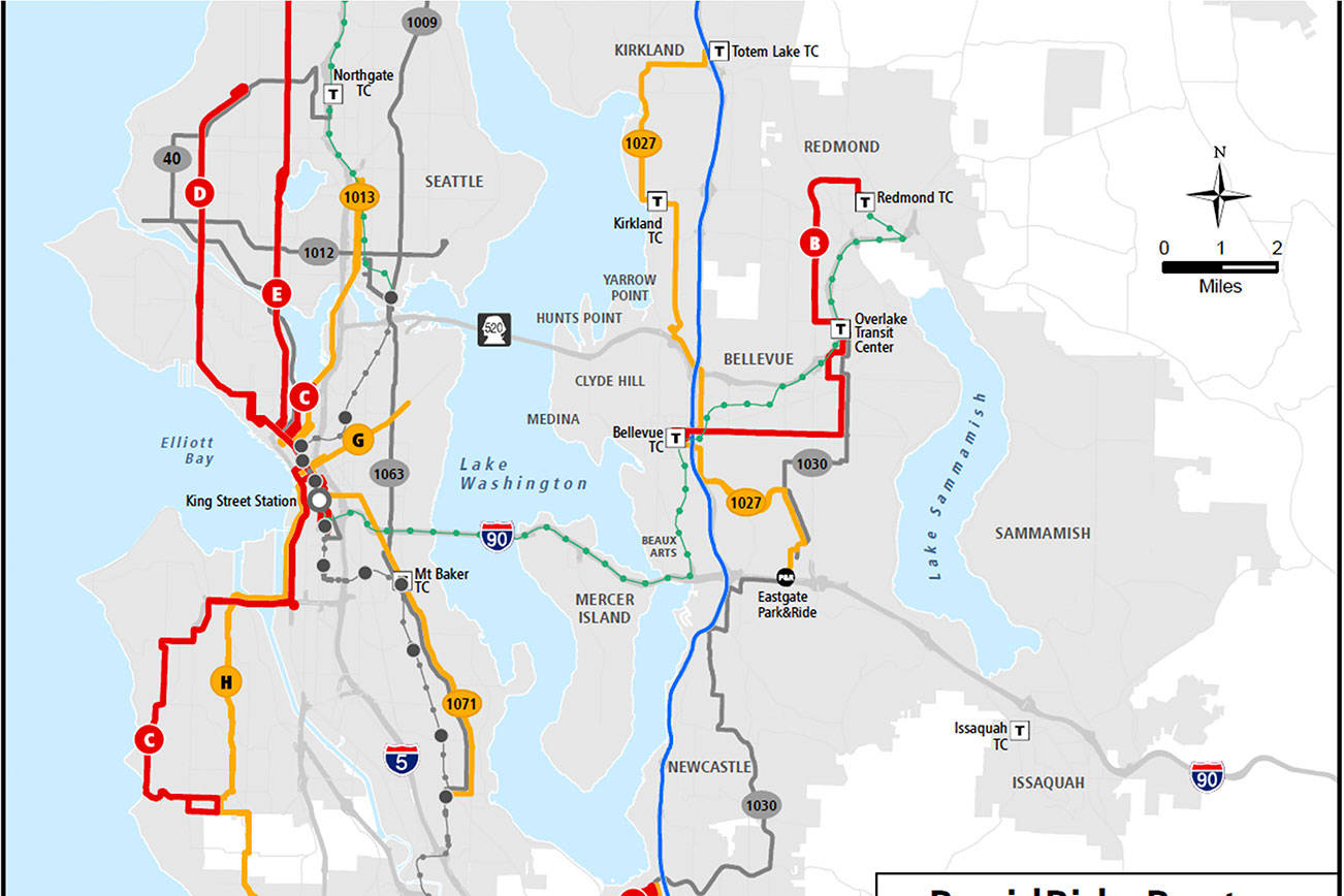 Metro revises timeline for RapidRide bus expansion