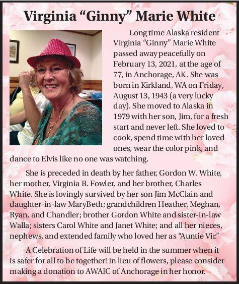 "Virginia ""Ginny"" Marie White 